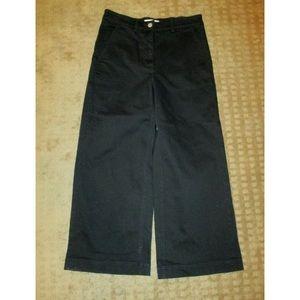 Everlane Black Stretch Wide Leg Cropped Jeans